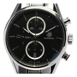 Tag Heuer Carrera Cal.1887 Car2110-0 Stainless Steel Automatic Men Watch[b0516]
