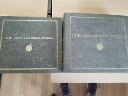 The Great Explorers Medals 2 Volumes Limited Edition 50 Silver Medals Used