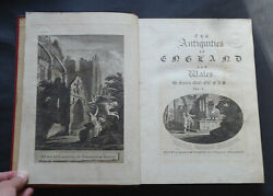 The Antiquities Of England And Wales By Francis Grose 6 Vols / Druids 1st 1773.