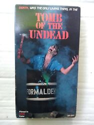 Tomb Of The Undead Vhs, 1985, Silvermine Video Rare Oop Htf Zombie Drug Horror