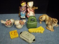 Lot 5 Sets Vintage Salt And Pepper Shakers Ceramic Collectibles Old Lock And Key++++