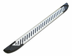 Romik 61819418 Silver Running Boards For 05-19 Nissan Frontier Crew Cab