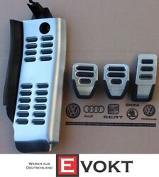 Audi 8e1064205 Foot Rest And Pedal Caps In Stainless Steel New