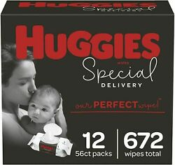 Huggies Special Delivery Hypoallergenic Baby Wipes Unscented 672 Wipes Total