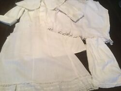 Lot 1920's-30 S Baby Clothes Antique Vintage Baby Dress Slips 4 Pc