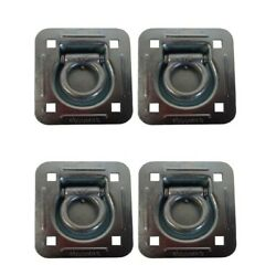 D-ring Recessed 6000 Lb Cap. Trailer Tiedown Anchor W/ Backing Plate 4-pack