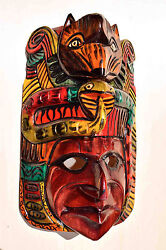 Hand Made Carved Wooden Mask From Guatemala - Gorgeous Details 5