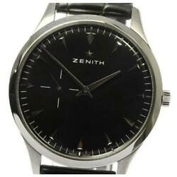 Zenith Elite Small Second 03.2010.681 Self-winding Menand039s From Japan [a0519]
