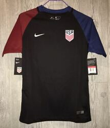 Nike Us Usa National Soccer Team Black Replica Away S/s Jersey New Youth Xl 20