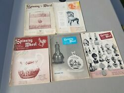 Lot Of 5 Issues From 1950's 1960's Spinning Wheel Magazine Antiques Collectibles