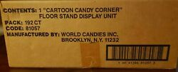 1993 Flinstones And Popeye Candy Sticks Floor Stand Display New In Unopened Box