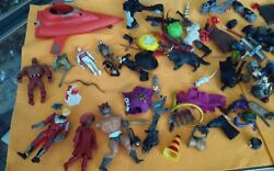 C-69 Mixed Lot Of Vintage Toys- Star Wars ,power Ranger,wrestling Etc, And Parts