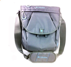 Columbia Gray Rugged Path Expandable Messenger Diaper Baby Bag With Microban $26.99
