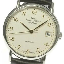 Portofino Iw3513-17 Stainless Leather Automatic Men Watch From Japan[b0520]