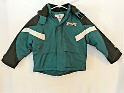 Philadelphia Eagles Official Team Apparel Youth Small 67 Hooded Winter Jacket $29.99
