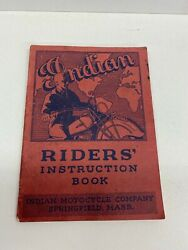 Rare Indian Four 74 35 45 Motorcycle Riders Instruction Book Manual