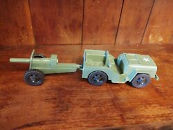 Vintage Timmee Jeep/cannon With Metal Axles And Plastic Wheels, Marx Mpc