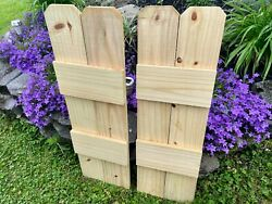 Rustic Board And Batten Shutters Wood Farmhouse Exterior Windows 24 Inch