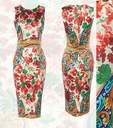 NEW! Gorgeous! DOLCE & GABBANA ITALY Floral dress IT size 40-42  $3000.00