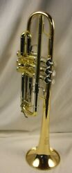 Yamaha Ytr-8445g Xeno Professional C Trumpet Lacquered Brass Large Bore Nice
