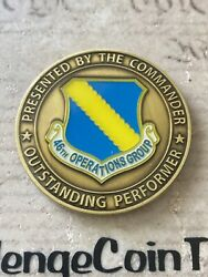Commander 46th Operations Group Air Force Eglin Afb Florida Challenge Coin