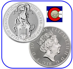 2020 Queenand039s Beast Yale Of Beaufort 10 Oz Silver Uk Coin In Mint Capsule