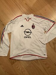 Adidas Ac Milan Player Issue Ls Away Jersey 2004-2005 L Bnwot Rare 369562 No.19