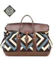 New Rrl By Bag Italian Leather Zigzag Pattern Rug H35 W50 D25cm