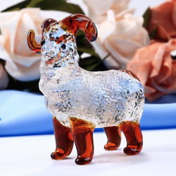 Handmade Crystal Goat Figurines Miniatures Glass Animal Crafts For House