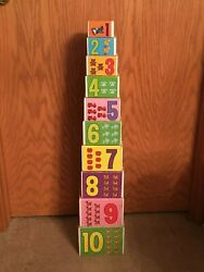 Antique Building Learning Blocks Kids, W/ Numbers, Alphabet, Disney Characters