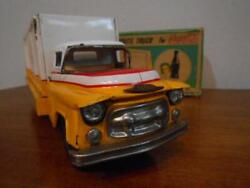Vintage Tinplate Vehicles Model Toy Coca-cola Route Truck With Box From Japan 4b