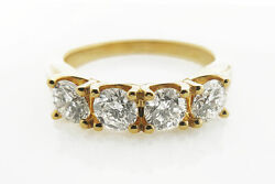 1.55 Carat Diamonds Ring Engagement 14k Gold G Si2 Certified Band Sizable