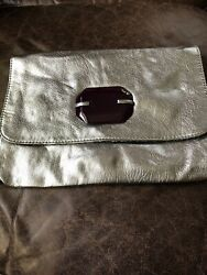 mark. Bags pewter clutch bag ipad case with paisley interior 9x12 $9.99