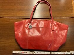 Hobo Brand Leather Tote Red (Slightly Scuffed)