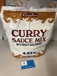 Dinaclass Curry Sauce Mix Without Sultanas 4.54kg Used In Fish And Chip Good Date