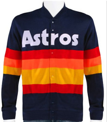 Xl Mitchell And Ness Houston Astros 1986 Rainbow Sweater Jacket Extra Large Nwt