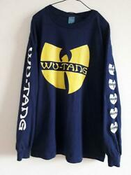 Vintage 1990and039s Wu Tang Clan Full Print Long Sleeve T-shirt L Size Rare