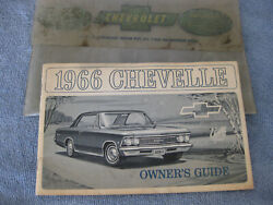 1966 Chevelle Owners Manuel And Protecto-plate Complete And Orig.