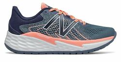 New Balance Women's Fresh Foam Evare Shoes Grey with Pink $34.77