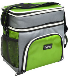 Vina Insulated Lunch Bag Dual Compartment Cooler Tote Bag for Men Women Adult $9.99