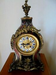 A Large Victorian Boulle French Mantle Clock