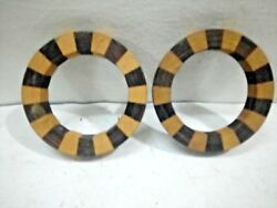 Pair Of Old Vintage Ethnic Tribal Kids Wear Wooden Bracelet Bangle Kada Anklet