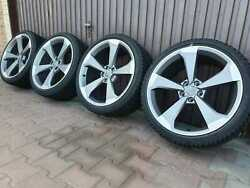 Geniune New Audi A5 S5 19 Rotor Winter Set Wheels Sline Continental Tyres 8w0