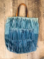 Rare Holding Horses Ombre Fringe Tote Purse 298 Retailed At Anthropologie