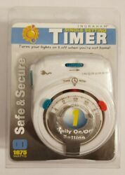 New Ingraham Timer Single Setting Wall Outlet Timer Safe And Secure 1875 Watts