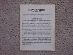 Roseville Pottery Price Guide -- No. 4-983 -- Huxford -- Collectible