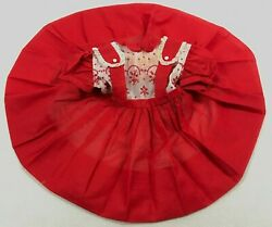 Vintage 1950s Girls Full Circle Dress Nylon Sheer Pinafore Pageant Embroidered $299.99