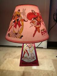 Vintage Sailor Moon Shade Lamp Toei Kids Coloring Contest Grand Prize Rare