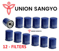 Set Of 12 Union Sangyo Oem Quality Oil Filterand039s For Honda And Acura