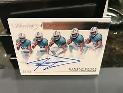 Panini Flawless Rookie On Card Autograph Dolphins Kenyan Drake 10/15 2016